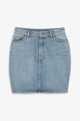 Monki Denim mini skirt