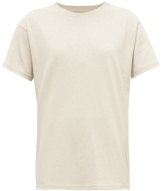 Bottega Veneta Logo-embroidered Cotton T-shirt - Womens - Beige
