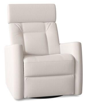 Palliser Furniture Waverly Power Swivel Recliner Body Fabric: Ambient Cream