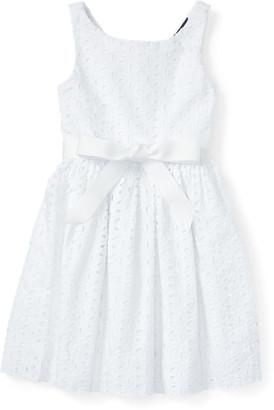 Ralph Lauren Eyelet Cotton Sleeveless Dress