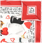 Dolce & Gabbana cat print square scarf