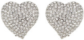 Carolee Pave Heart Clip-On Earrings