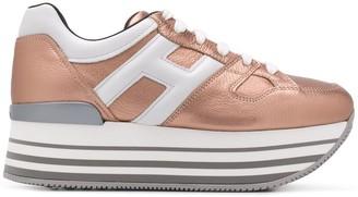Hogan H-logo platform sneakers