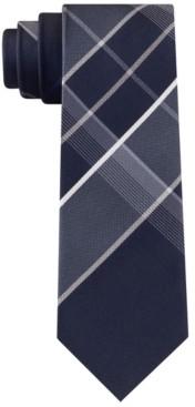 Kenneth Cole Reaction Men's Quincy Panel Plaid Tie