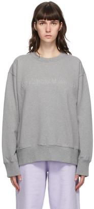 MM6 MAISON MARGIELA Grey Embroidered Logo Sweatshirt
