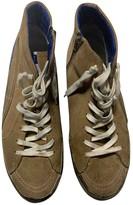 Golden Goose Slide Camel Leather Trainers