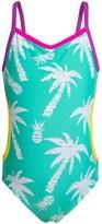 Big Chill Ruffled One-Piece Monokini Swimsuit - UPF 50+ (For Little Girls)