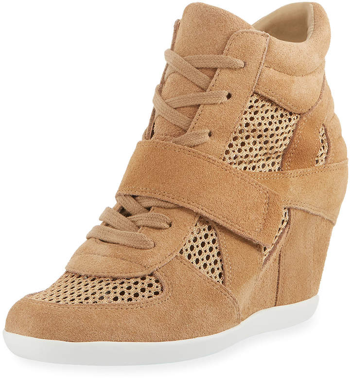 Ash Bowie Mixed Mesh Wedge Sneakers