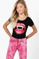 boohoo Girls Vampire Lips Bodysuit