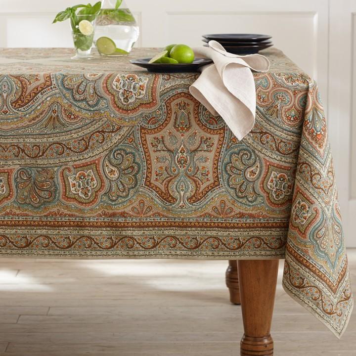 Williams-Sonoma Engineered Paisley Print Tablecloth