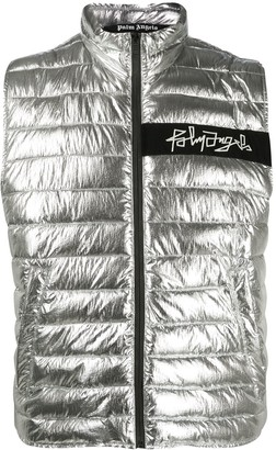 Palm Angels Geometric Logo Quilted Gilet