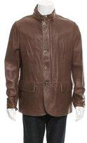 Giorgio Armani Hooded Leather Jacket w/ Tags