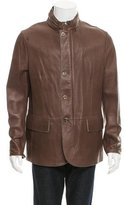 Giorgio Armani Textured Leather Jacket w/ Tags