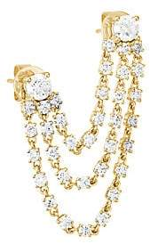 Anita Ko Women's Bianca 18K Yellow Gold & Diamond Double-Piercing 3-Loop Single Earring