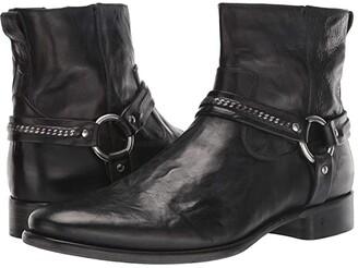 John Varvatos Collection Eldridge Harness Boot (Black 2) Men's Boots