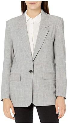 BB Dakota Making Moves Blazer Jacket (Grey) Women's Clothing