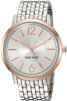 Nine West Women's NW/1921SVRT Silver-Tone Bracelet Watch