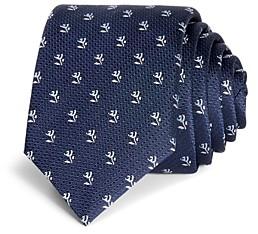 HUGO BOSS Rose & Stem Neat Silk Skinny Tie