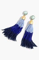 J.Crew Women's Colorblock Bead Tassel Earrings