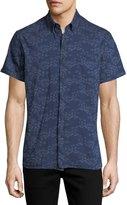 Billy Reid Tuscumbia Short-Sleeve Floral Cotton Shirt
