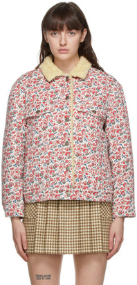 Gucci White Liberty London Edition Denim Floral Jacket