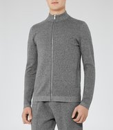 Reiss Basillica Funnel Neck Zip Cardigan
