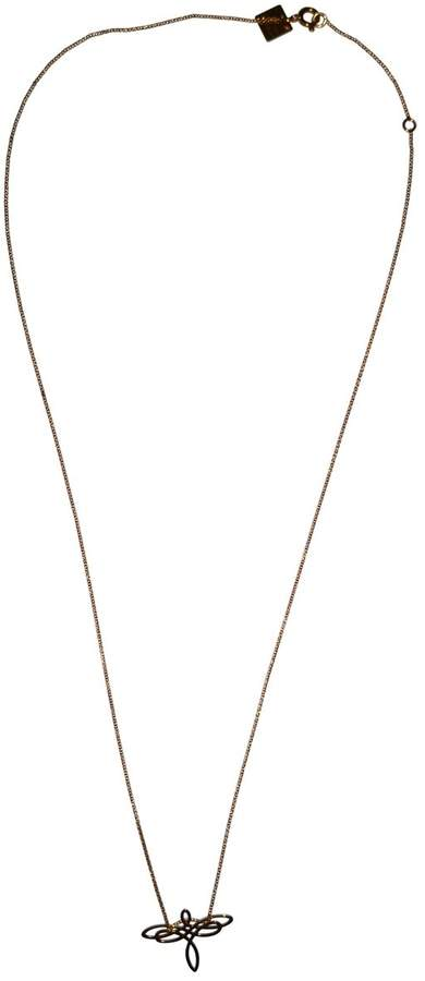 ginette_ny Minis pink gold necklace