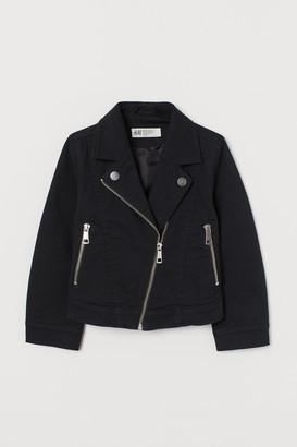 H&M Cotton Twill Biker Jacket