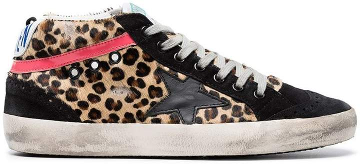 Golden Goose Multicoloured Mid Star leather sneakers