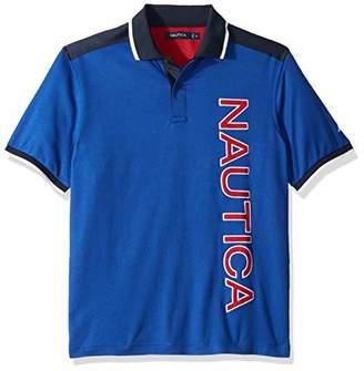 Nautica Men's Classic Fit Short Sleeve Woven Trim Polo Shirt