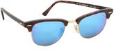 Mirrored Clubmaster Sunglasses
