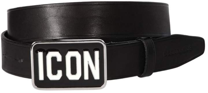 DSQUARED2 35mm Icon Buckle Leather Belt