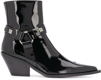 Misbhv Studded Point Toe Ankle Boots