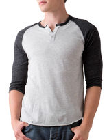 Alternative Three-Quarter-Sleeve Raglan Henley