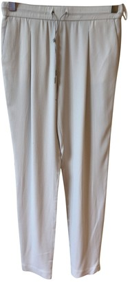 Fabiana Filippi Grey Silk Trousers for Women