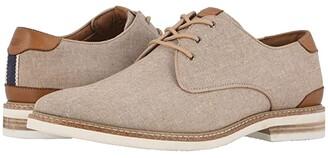 Florsheim Highland Canvas Plain Toe Oxford (Gray Canvas/White Sole) Men's Shoes