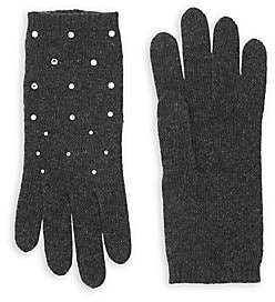 Swarovski Carolyn Rowan Women's Scattered Crystal Cashmere Gloves
