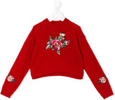 Dolce & Gabbana embroidered jumper - kids - Virgin Wool - 4 yrs