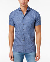 HUGO BOSS HUGO Men's Floral-Print Cotton Shirt