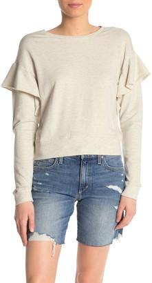 Joe's Jeans Faye Ruffle Sleeve Sweatshirt
