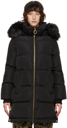 Versace Jeans Couture Black Quilted Shiny Jacket