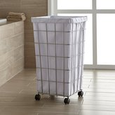 Crate & Barrel Wire Hamper with White Liner Set