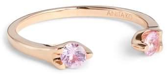 Anita Ko Orbit Pink Sapphire Open Ring