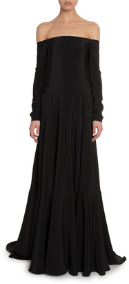 Valentino Off-the-Shoulder Cady Gown
