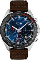Hugo Boss Men's Intensity Chronograph Watch with Leather Strap
