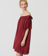 LOFT Petite Embroidered Off The Shoulder Dress