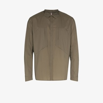 Veilance Khaki Zipped Shirt Jacket
