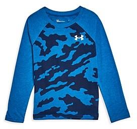 Under Armour Boys' Fury Camo Baseball Shirt - Little Kid