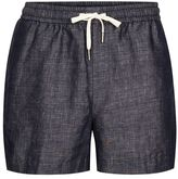 Topman Navy Linen Smart Shorts