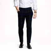 Ludlow slim suit pant in Black Watch Harris Tweed wool
